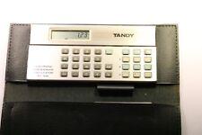 Rara Vintage Tandy Electrónico talonario Calculadora EC-306 caso Manual