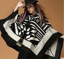Lady Poncho Cape Shrug Wrap Shawl Jacket Jumper Sweater Winter Cashmere Like Big