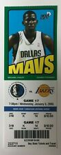 2004-05 Dallas Mavericks vs Los Angeles Lakers Ticket 1/5/05 Kobe 32 Points