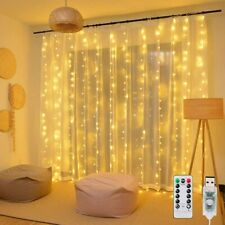 Window Curtain Lights 8 Mode LED Fariy String Lights for Party Garden Room Wall