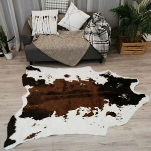 Cow Animal Print Carpet Chair Throw Rug Anti-slip Living Room Lounge Decor