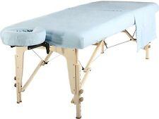 Mt Universal Massage Table Natural Cotton Flannel Sheet set 3 piece Sky Blue