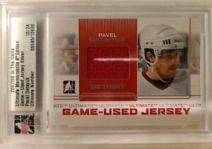 2007-2008 ITG- Ultimate Memorabilia Game Used Jersey Silver- Pavel Datsyuk  #...