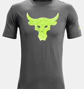 2021 Under Armour Mens UA Project Rock Brahma Bull T-Shirt Dwayne Rock Johnson