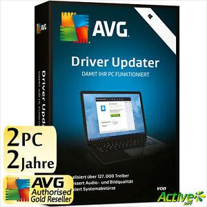 AVG Driver Updater 2021 2 PC 2 Jahre | VOLLVERSION/Upgrade | Treiber DE-Lizenz