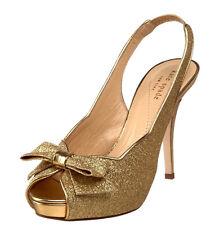 9f21716287c8 Kate Spade Giada Gold Glitter Wedding Womens DESIGNER Shoes Platform  Sandals 9