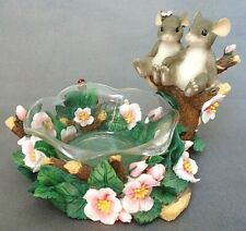 Fitz & Floyd Charming Tails Two Mice Ladybug Floral Love Expressions Candy Dish