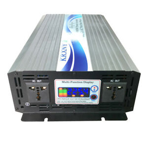3000W Off Grid Pure Sine Wave Power Inverter 12/24/48V DC to 230V AC LCD Display