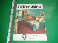JC333 Vntg 1986 Issue Ideas For Better Home Living First National Bank Alton IL