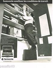 PUBLICITE ADVERTISING 075  1977  SAMSONITE   valises bagages attaché-case