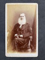 Victorian Carte De Visite CDV: Gent Named PARKER Bushy Beard: Berry: Sudbury