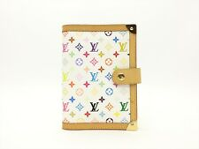 Louis Vuitton Auth Monogram MULTICOLORE Blanc Agenda fonctionnel PM Diary cover