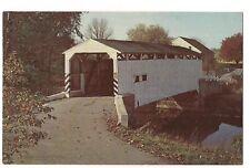 Lancaster PA KELLER'S MILL BRIDGE Covered Guy Bard's Cocalico Creek Postcard