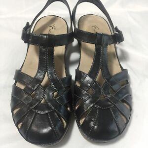 Wear. Ever. Womens Jeddy Sandals Black Size 7.5 M Dress Casual Ladies