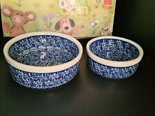 Bunzlauer Keramik 2 Schalen Schüsseln Müsli Salat 15,5/12,5 cm D, 6/4,5 cm h neu
