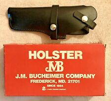 """NEW BUCHEIMER BLACK LEATHER HOLSTER - LH MODEL B34 RUGER MK I 4 3/4"""" STANDARD"""