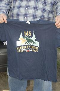 2019  Kentucky derby T shirt Churchill Downs Horse racing 145th XL triple crown