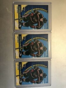 2000/01 Premier Plus Lot Of 3 Rookie RC Marian Gaborik Wild