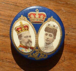 Edward VII and Queen Alexandra Coronation Pin Badge 1911.