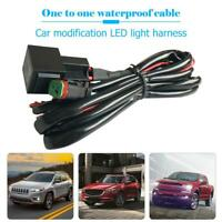 6.6ft Offroad Car LED Work Light Bar Wiring Loom Harness Relay Fuse Kit 40A 12V