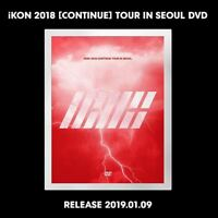 iKON 2018 [CONTINUE] TOUR IN SEOUL DVD 3Disc+Book+Poster+Tracking Num