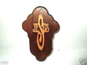 Handcrafted Walnut and Oak Jesus Cross- Free shipping