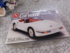 1991 Corvette convertible 1/25 scale  AMT / Earth kit # 6144