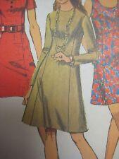 Vtg 70's Simplicity 8884 PRINCESS DRESS w BACK ZIPPER Sewing Pattern Women Sz 12