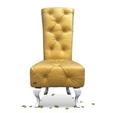 Bretz Sessel Stuhl Marilyn A140 gold Leder Hochlehner