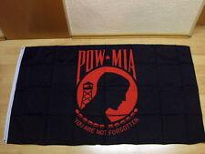 Fahnen Flagge Pow - Mia - Rot - 90 x 150  cm