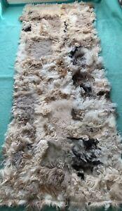 Fur fur Carpet Sheepskin Lambskin Runner Rug Seat Cover 65x25 5/8in