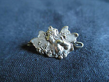 ancienne broche bijoux femme papillon fée argent? Art Nouveau début XX ème
