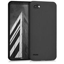 Custodia Cover Back Case Matt per Lg Q6 M700N in Silicone Nera Anti-Impronta