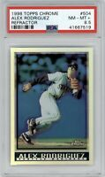 1998 Topps Chrome Alex Rodriguez Refractor #504 PSA 8.5 *Pop 1* Mariners