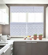 """30x36"""" 60x18"""" 3pc Floral Kitchen Embroidery Sheer Valence Window Curtain Drapery"""