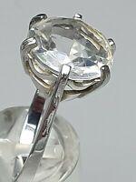 Art Deco Silber Ring 935 punz. Meisterpunze großer Bergkristall in Kronenfassung