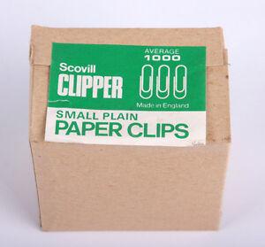 Scovill Clipper Small Plain Paperclips 22mm Box 1000