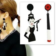 "BREAKFAST AT TIFFANY'S INSPIRED EARRINGS 3"" Lg Acrylic Audrey Hepburn Cigarette"