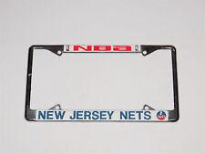 New Jersey Nets Vintage Metal / Chrome Nba Basketball License Plate Frame