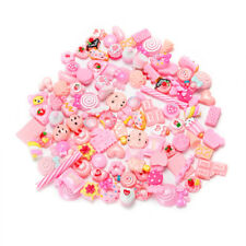 10Pcs Pink Fast Food Candies Squishy Charms Squeeze Slow Rising Toy Collection
