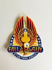 FALL GUY STUNT MAN ASSOCIATION 💥Quality LRG Iron On Patch Badge 80's Action TV