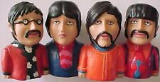 Rare Beatles Yellow Submarine Coin Bank w/ Paul, John, George, and Ringo! NOS