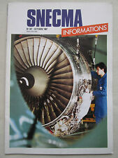 10/1987 SNECMA INFORMATIONS 307 ARIANE SEP CFM56 TURBOREACTEUR THR UNDUCTED FAN