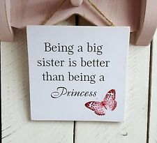 Handmade Plaque Sign Gift Presents Sister Butterfly Christmas Daughter Sibling