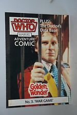 DOCTOR WHO GOLDEN WONDER MARVEL Adventure Comics Número 3 de 6 1986
