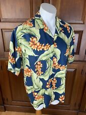 8f9bb137a2d0 Vintage Ho Aloha Hawaiian Short Sleeve Button Camp Shirt Rayon Floral Sz XL