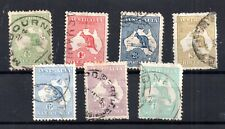 Australia 1913 Roo 1st WMK collection to 1/- used WS15588