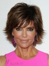 Lisa Rinna Fluffy Short Straight Mono Top Womens Wig 8 Inches