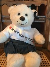 Build-a-Bear Beary Best Teacher Apple Sash Teddy Outfit & Bear