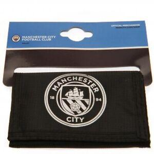 Manchester City Nylon Wallet Official Merchandise Zipped Black Money Wallet MCFC